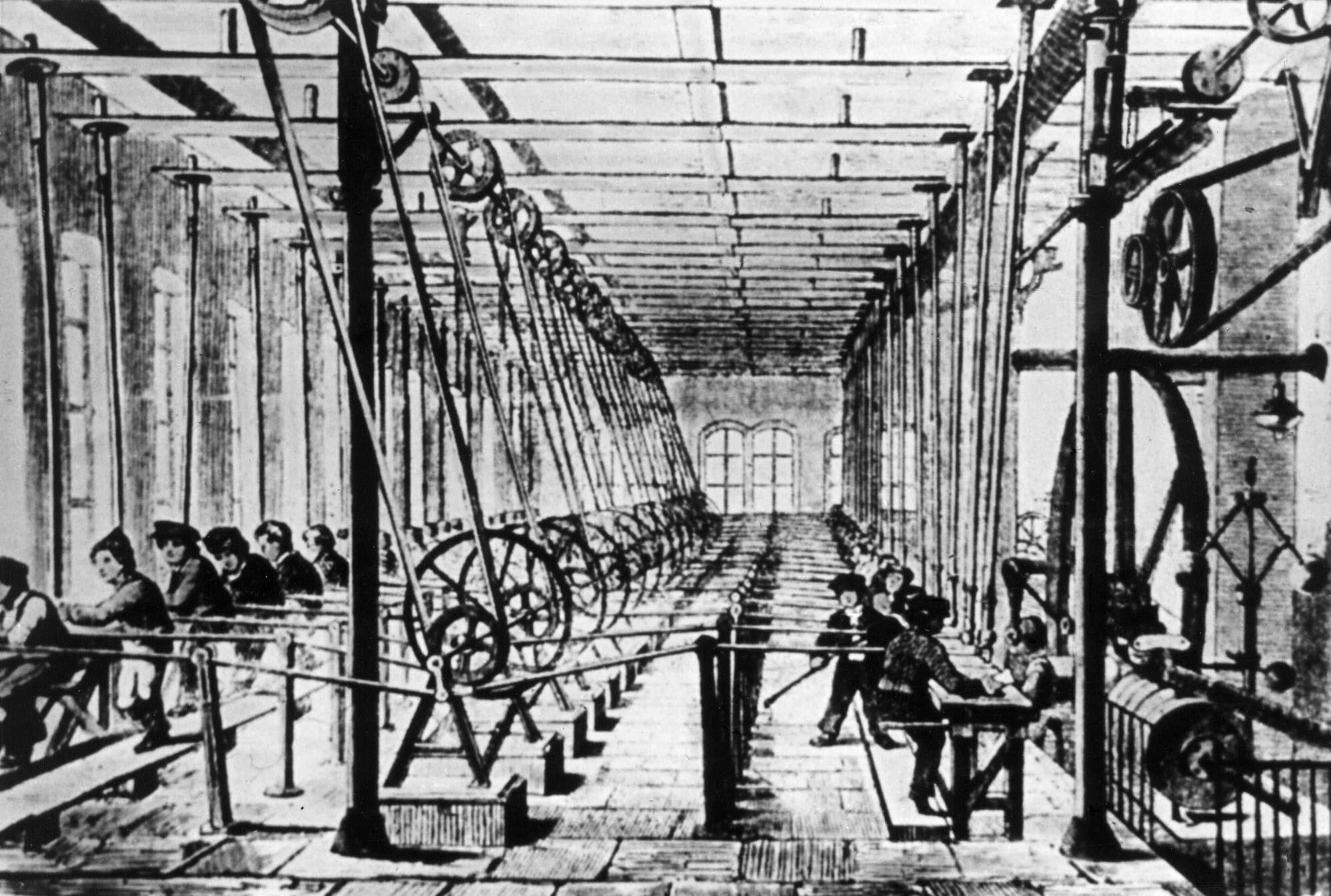 Geschichte der Gewerkschaften - Die Dampfmaschine erobert die Welt